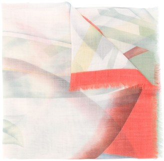 Etro Abstract-Print Cashmere Scarf