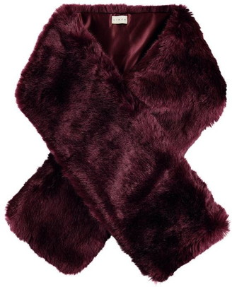 Linea Plush slot through faux fur scarf