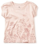 Tea Collection Girl's Outback Flower Graphic Tee