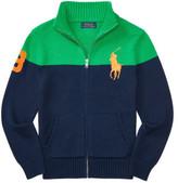 Polo Ralph Lauren Cotton Full-Zip Sweater (8-14 Years)