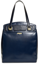 Brooks Brothers Exotic Embossed Calfskin Large Tote