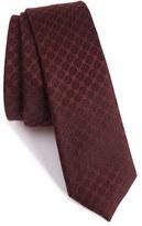 The Kooples Men's Checkerboard Jacquard Skinny Tie