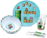 Bumkins Super Mario Eight-Bit Five-Piece Melamine Place Setting
