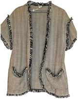 Hoss Intropia Grey Cotton Jacket for Women