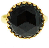 Heather Hawkins Splendor Rose Cut Ring - Black Spinel / Yellow Gold
