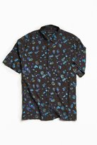 Urban Outfitters Owen Stones Rayon Short Sleeve Button-Down Shirt