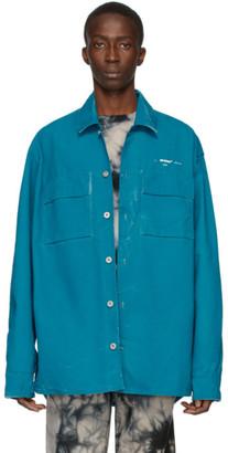 Off-White Blue Denim Arrows Over Shirt