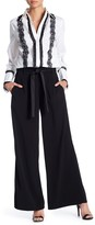 Laundry by Shelli Segal High Waisted Drawstring Wide Leg Pants