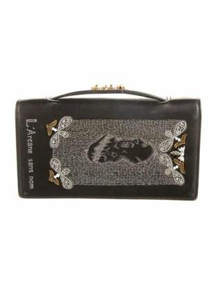 Christian Dior Embroidered Death Clutch Black