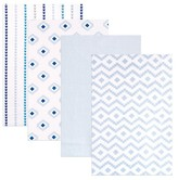 Hudson Baby Modern Receiving Flannel Blankets 4pk