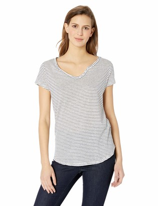 William Rast Women's Cooper Henley Short Sleeve Tee Shirt