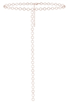 Quiz Rose Gold Circle Plunge Choker