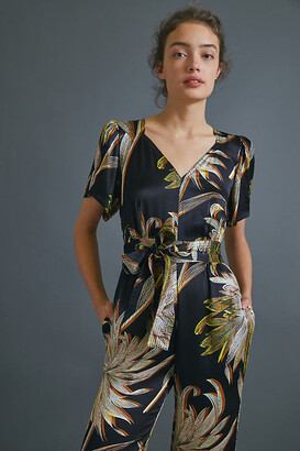 Anthropologie Jasmine Palm-Printed Jumpsuit By in Assorted Size 0