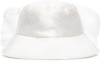 Jennifer Behr Elaine mesh veil bucket hat