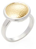 Gurhan Silver & Gold Round Amulet Ring