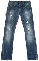 Fred Mello Destroyed Stretch Denim Jeans