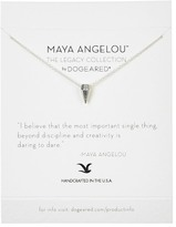 Dogeared I Believe That the Most Important Thing Maya Angelou Legacy Collection Spike Pendant Necklace