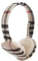 Burberry Nova Check Woven Earmuffs