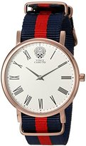 Vince Camuto Women's VC/5302RGRD Red and Blue Striped Nylon Strap Watch