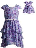 Dollie & Me Girls 4-14 Tiered Floral Dress Set