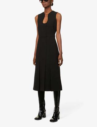 Victoria Beckham Cut-out stretch-jersey midi dress