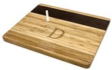 Cathy's Concepts Monogram Bamboo & Slate Cheese Board