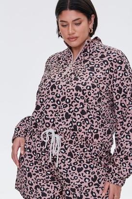 Forever 21 Plus Size Leopard Print Jacket