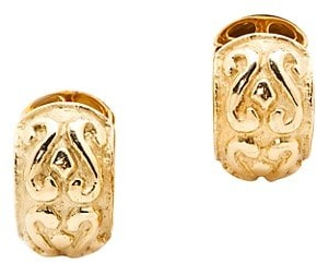 Katy Briscoe Laura 18K Yellow Gold Large Hoop Earrings