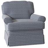 """Darby Home Co Alleman Swivel 22"""" Armchair Darby Home Co Body Fabric: Marble Grey-31859"""