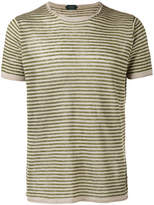 Zanone knitted striped T-shirt