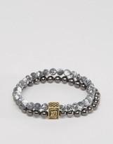 ICON BRAND Beaded Bracelet In Gray