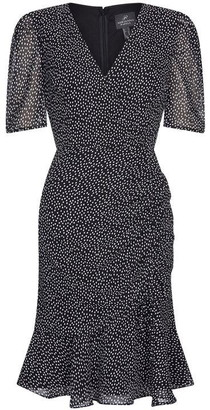 Adrianna Papell Darling Dot Shirred Dress