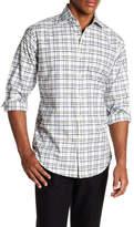 Thomas Dean Dobby Checked Print Regular Fit Woven Shirt