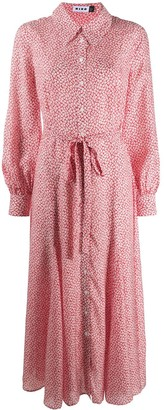 Rixo Maddison leaf-print shirt dress