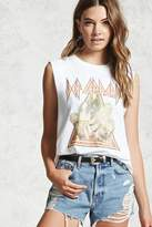 Forever 21 FOREVER 21+ Def Leppard Muscle Band Tee