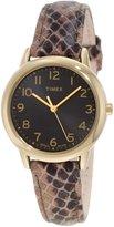 Timex Women's Elevated Classics T2N965 Multi Leather Quartz Watch