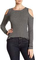 Philosophy Apparel Striped Cold Shoulder Sweater
