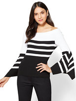 New York & Co. 7th Avenue - Flounced- Sleeve Off-The-Shoulder Sweater