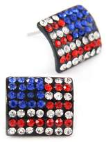 Ciel Bejeweled Stars and Stripes American Flag Post Earrings