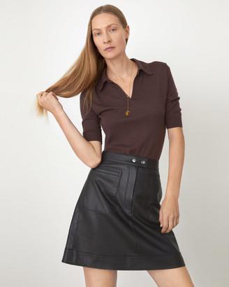 Jigsaw Leather Patch Pocket Mini Skirt