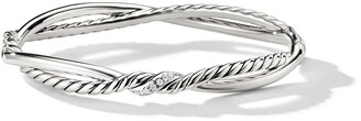 David Yurman sterling silver Continuance Small Station diamond bracelet