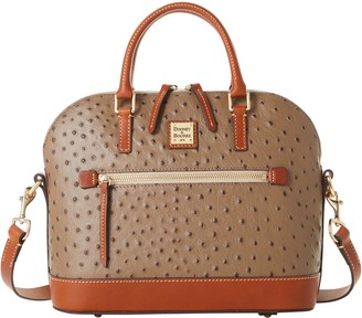 Dooney & Bourke Ostrich Domed Zip Satchel