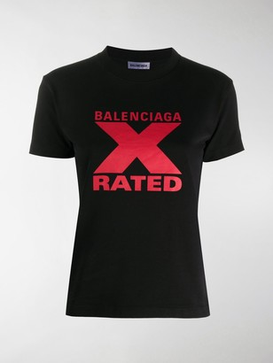 Balenciaga X-rated print T-shirt