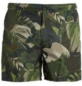 Valentino Leaf-print swim shorts