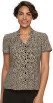 Dana Buchman Women's Pintuck Button-Front Blouse