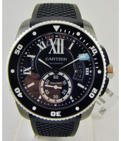 Cartier Calibre De WSCA0006 ADLC Coated Stainless Steel & Rubber Automatic 42mm Mens Watch