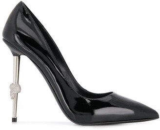Philipp Plein black stiletto pumps