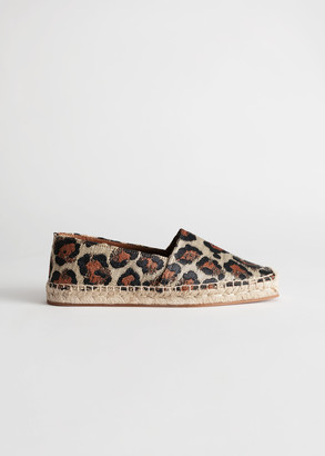 And other stories Square Toe Leopard Espadrilles