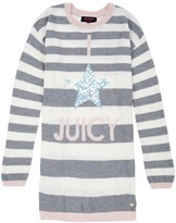 Juicy Couture Girls Sweater Star Sequin Dress