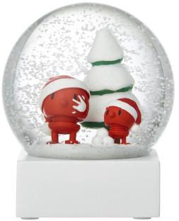 Hoptimist - Glass Red Santa Snow Globe - glass